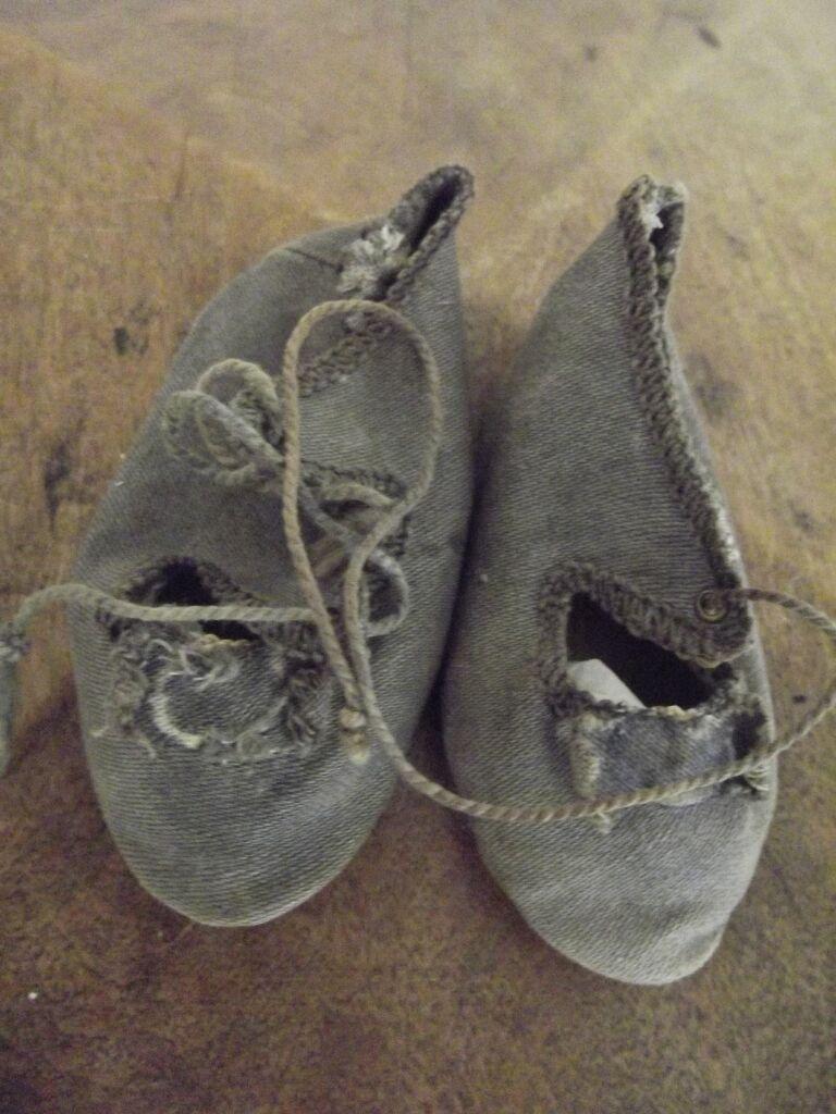 Dark Grey Antique Shoes