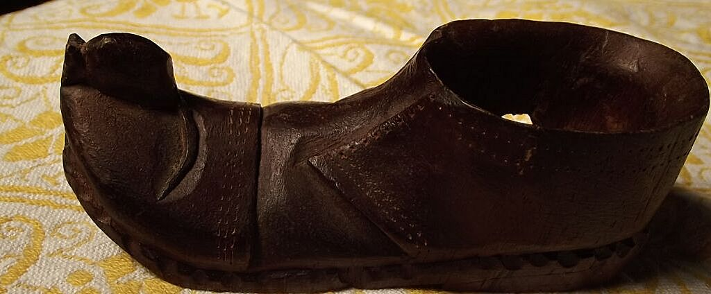 Wood Carving of a Shoe