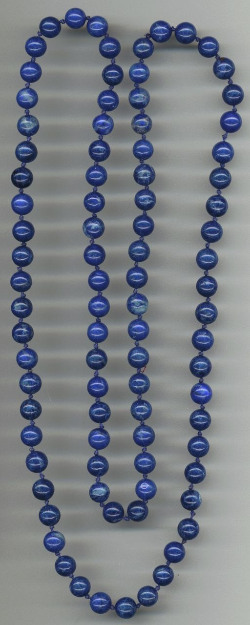 Dark Blue Long Glass Beads