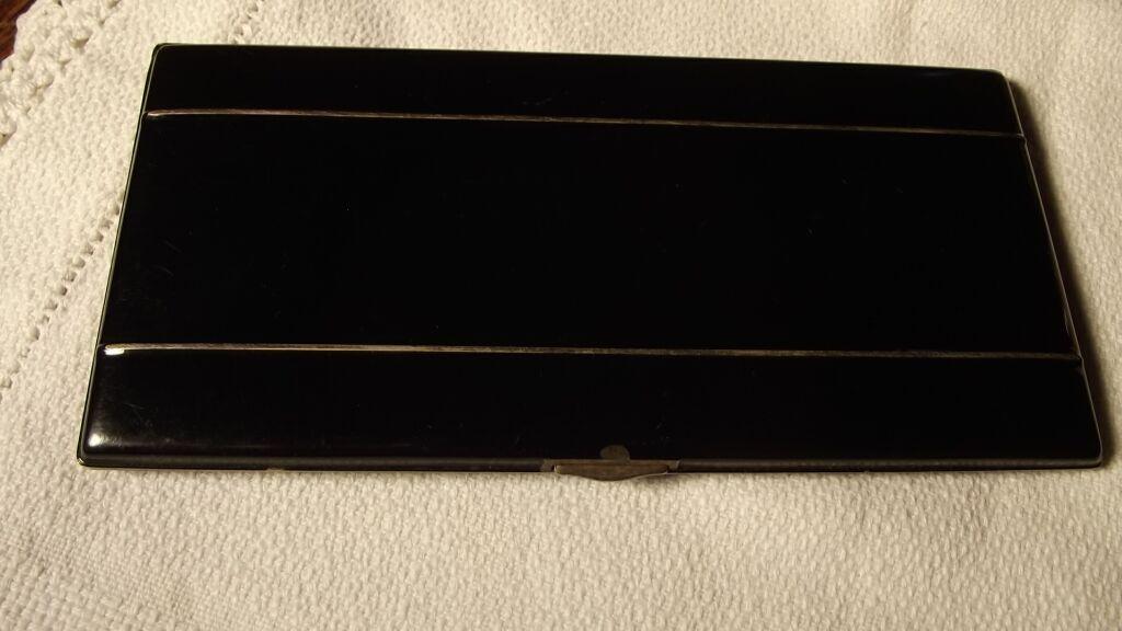 Classy Black Cigarette Case 1933