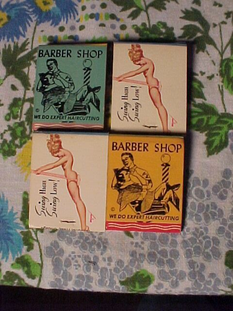 Lot of Four Advertising Match Books Two with Pinups