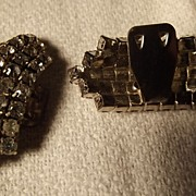 Pair of Rhinestone Shoe Clips