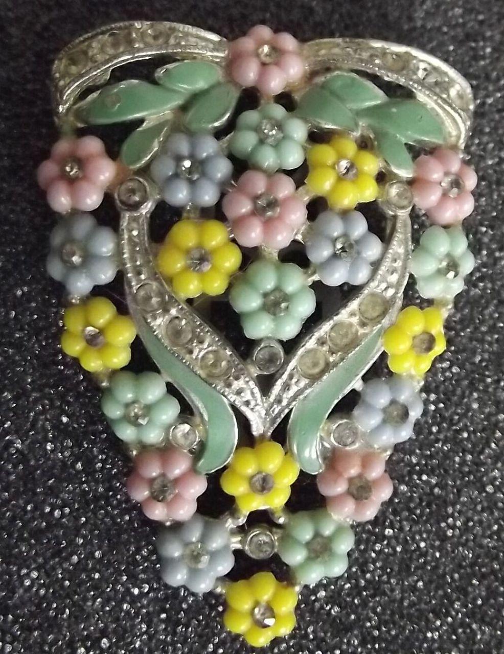 Vintage Flower Clip