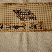 "Old Cross stitch Book Mark ""Father"""