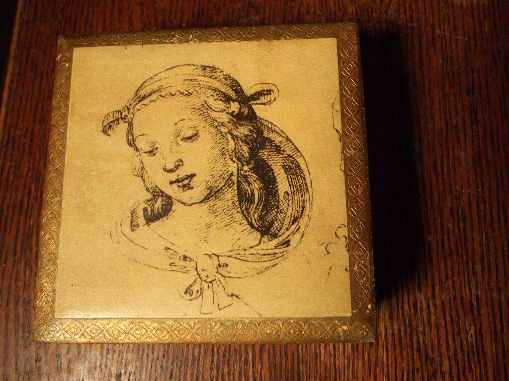 Wood Box With Pretty Lady