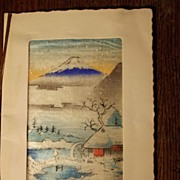 Early Handtinted Japanese Card