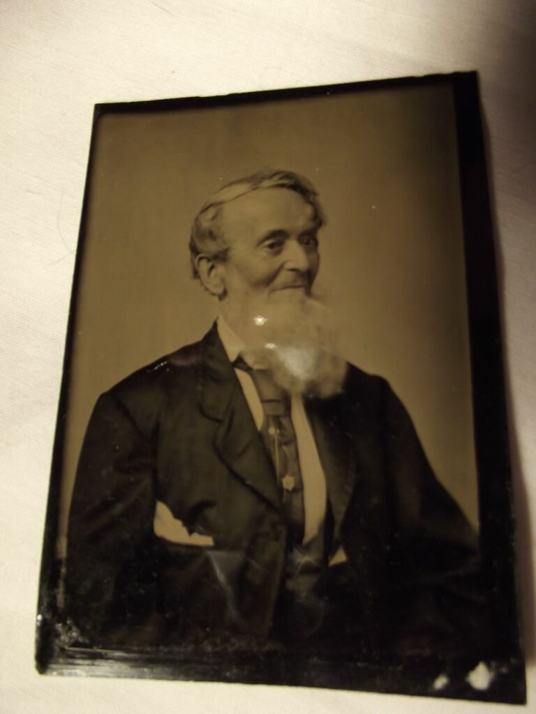 Tintype of Bearded Man