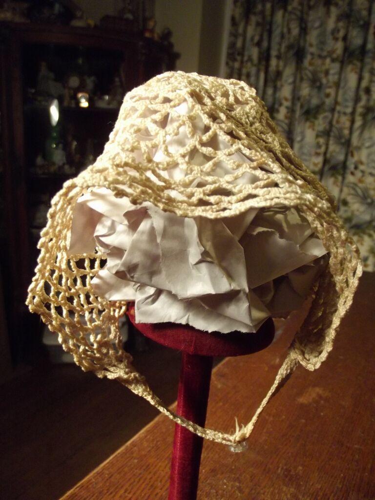 Very Old Crocheted Bonnet