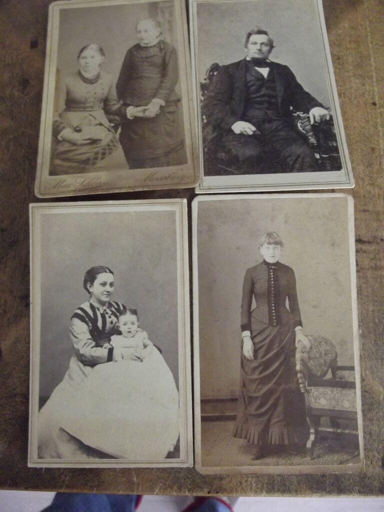 Four Civil War Era Carte de Viste One with Revenue Stamp
