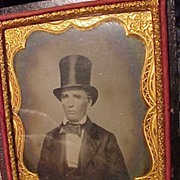 Man In Top Hat  Ambrotype