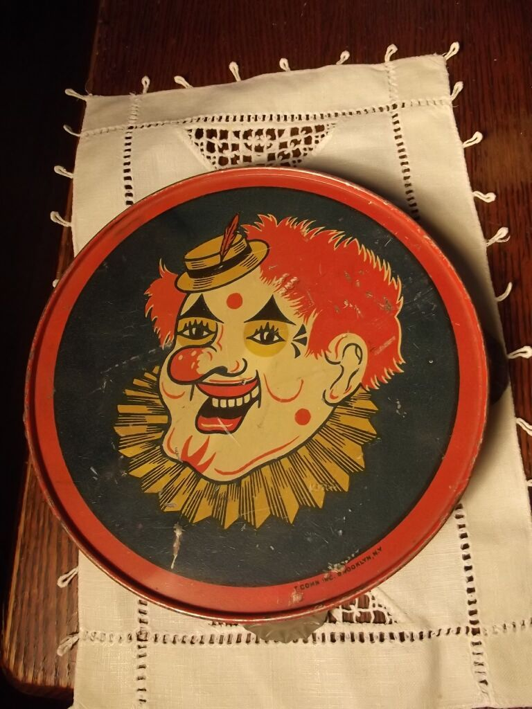 Old T Conn Tambourine With Clown