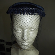 Vintage Hat With Fringe