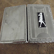 Lady's Cigarette Case With Walking Lady