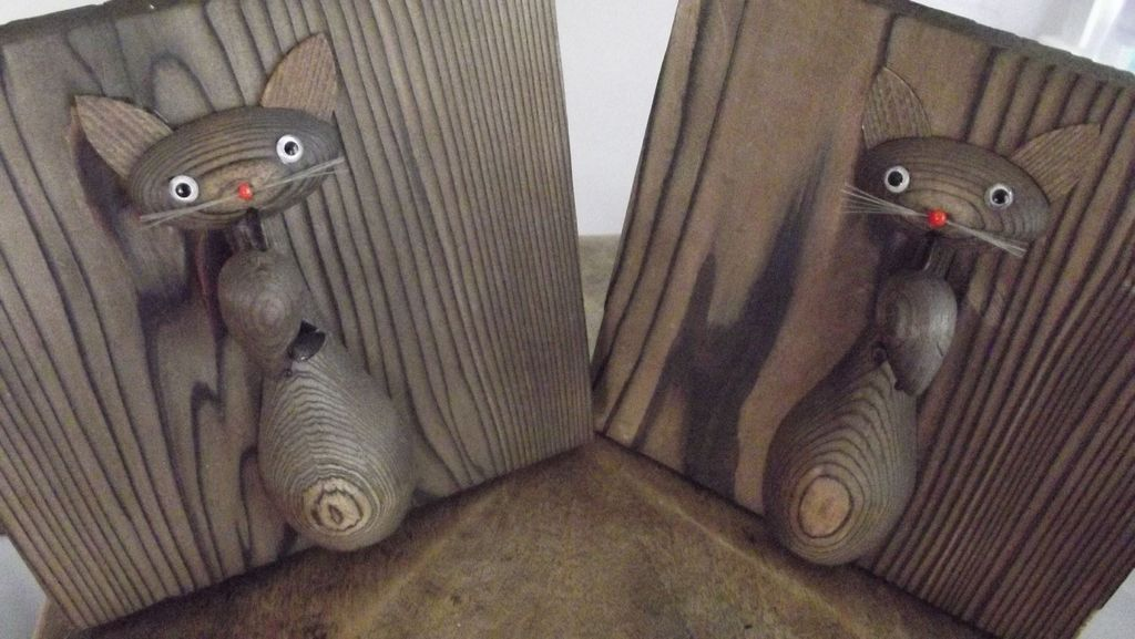 Fifties Cat and Mouse Bookends