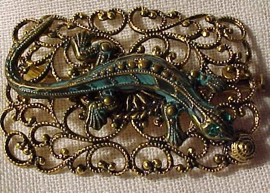 Unique Vintage Lizard Pin