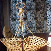 Victorian Brass Double Basket