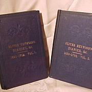 Rare Old Set of Two Oliver Heywood's Diaries, & Co.
