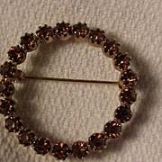 Amber Circle Pin