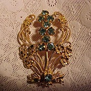Vintage Elegant and Feminine  Floral Pin