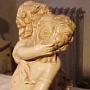 Wonderful Vintage Statue of Two Children
