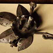 Old Metal Candleholder Hanging or Tabletop