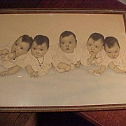Old Picture of the Dionne Quintuplets