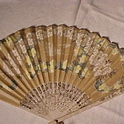 Coffee Advertising Fan - Red Tag Sale Item