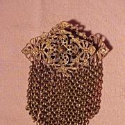 Beautiful Old Art Deco Brass  Pin