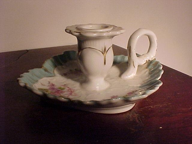 Victorian China Candlestick