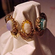 Lovely Old  Florentine Gold Ring With Cameos