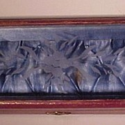 Victorian Tufted Glass Top Box