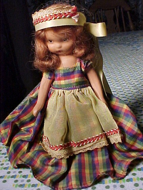 Sweet Storybook Doll In Plaid