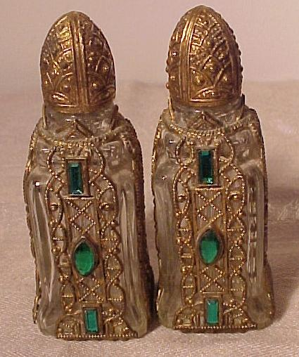 Pair of Jewelled and Ormolu Perfumes