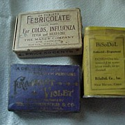 Old Medicine Tin and Two Boxes