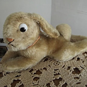 Large Lying Steiff  Googly Eyed Rabbit