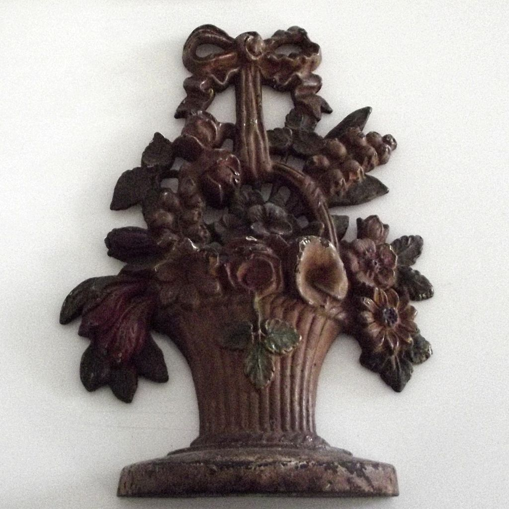 Old Flower Basket Door Stop