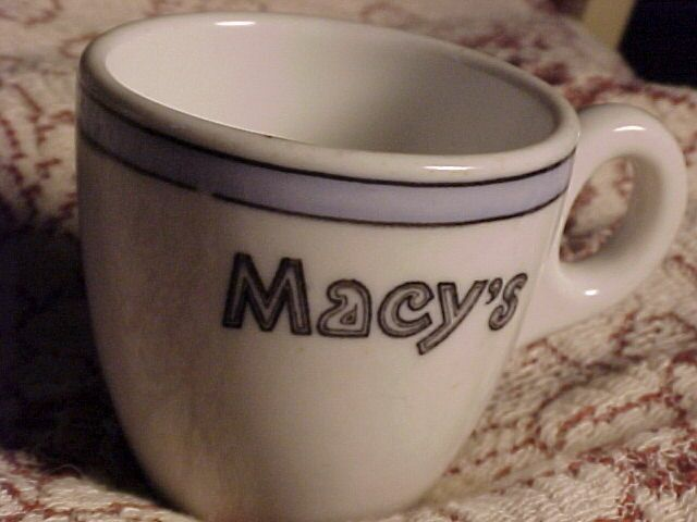 Early Macy's Demi Tasse Cup