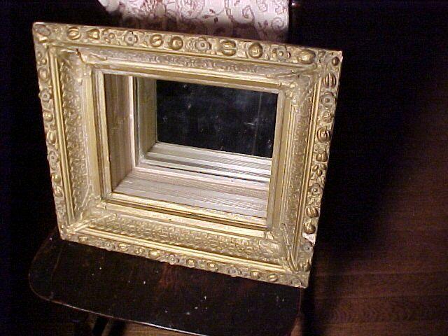Vintage Hanging Shelf/Frame With Mirror