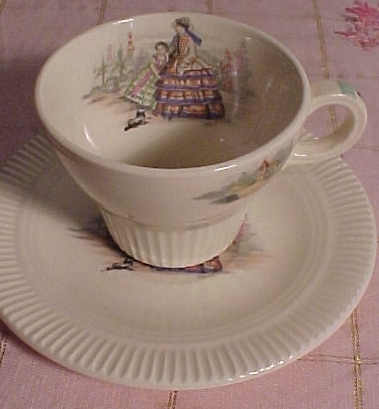 Little Godey Cup and Saucer