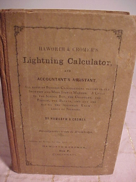 Haworth & Cromer's Lightning Calculator and Accountant's Assistant