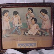 Framed 1937 Dionne Calendar
