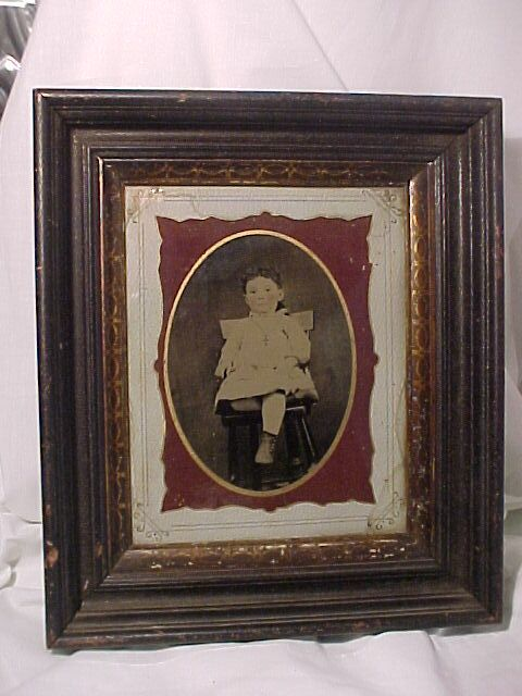 Large Framed Tintype of a Child