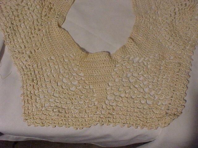 Pretty Large Crocheted Collar