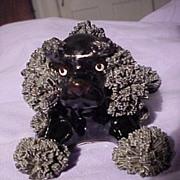 Vintage Black Spagetti Poodle