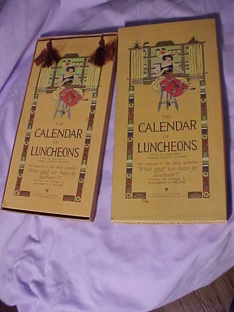 Calendar of Luncheons