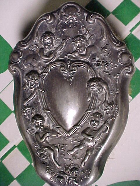 Victorian Hairbrush With Cherubs