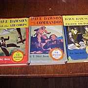 Set of Three Dave Dawson Boy's Books