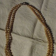 Double Strand of 1940' s Marvella Pearls