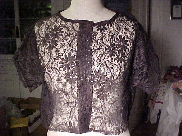 Vintage Black Lace Cover