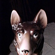 German Shepherd Broom Figure